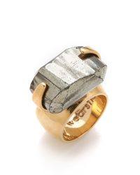 Kelly Wearstler - Brown Faceted Pyrite Ring - Lyst