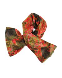 McQ Red Rose Petal Scarf