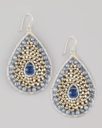 Nakamol | Blue Beaded Teardrop Earrings | Lyst