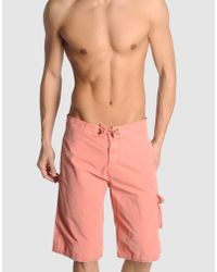 Scotch & Soda | Pink Swimming Trunk for Men | Lyst