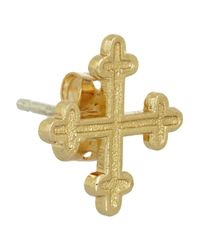 Bing Bang - Metallic Cardinal Goldplated Cross Stud Earrings - Lyst