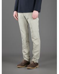 Ermenegildo Zegna - Gray Chino Trouser for Men - Lyst