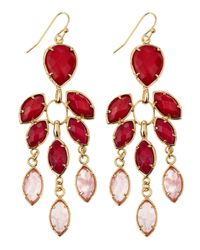 Kendra Scott | Red Flower Chandelier Earrings | Lyst