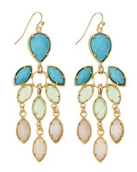 Kendra Scott - Metallic Flower Chandelier Earrings Cabana - Lyst