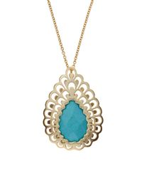 Kendra Scott | Blue Nelly Turquoise Pendant Short Necklace | Lyst