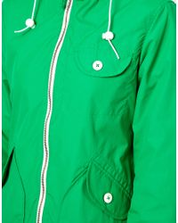 Penfield - Green Zip Through Rain Jacket - Lyst