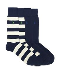 Polo Ralph Lauren - Blue Pony Logo Socks 2 Pack for Men - Lyst