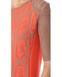 Dagmar - Orange Dita Lace Knit Dress - Lyst