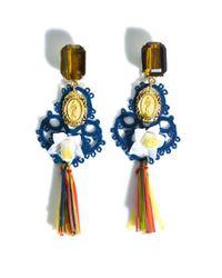 Dolce & Gabbana   Blue Raffia Earring   Lyst