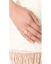 Elizabeth and James - Metallic Plated Victorian Star Ring - Lyst