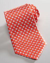 Ferragamo   Red Elephants with Flower Silk Tie  for Men   Lyst