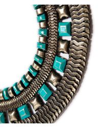 Zara | Green Egyptian Style Necklace | Lyst