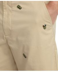 Brooks Brothers - Natural Plainfront Pineapple Embroidered Shorts for Men - Lyst