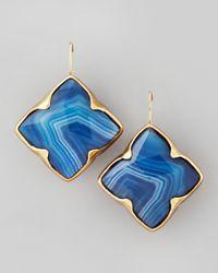 Stephen Dweck | Blue Agate Clover Drop Earrings | Lyst