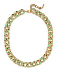 BaubleBar | Green Mint Gloss Enamel Necklace | Lyst