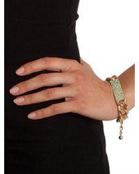 BaubleBar | Metallic Mint Link Bar Bracelet | Lyst