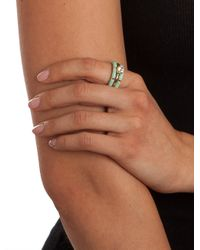 BaubleBar - Green Mint Solitaire Rings - Lyst