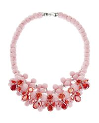 EK Thongprasert - Pink Silicone and Cubic Zirconia Necklace - Lyst