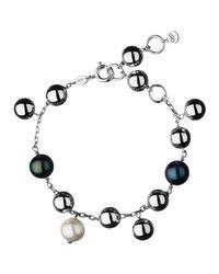 Links of London - Metallic Sterling Silver Effervescence Freshwater Pearl Bracelet for Men - Lyst