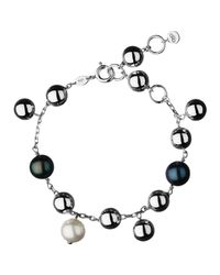 Links of London   Metallic Sterling Silver Effervescence Freshwater Pearl Bracelet   Lyst