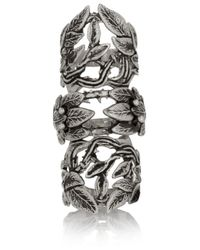 Pamela Love | Metallic Articulated Maia Burnished Silver Ring | Lyst