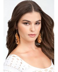 Bebe - Metallic Multi Piece Teardrop Hammered Earrings - Lyst