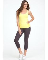 Bebe - Yellow Power Seamless Tank Top  - Lyst