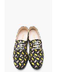 KENZO - Black Yellow Printed Spain Espadrille Sneakers for Men - Lyst