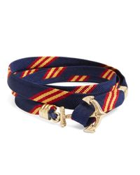 Brooks Brothers - Blue Kiel James Patrick Mini Bb#1 Stripe Wrap Bracelet - Lyst