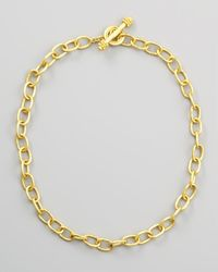 Elizabeth Locke | Metallic Volterra 19k Gold Link Necklace | Lyst
