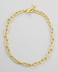 Elizabeth Locke - Metallic Volterra 19k Gold Link Necklace - Lyst