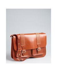 Rebecca Minkoff - Brown Studded Leather Large Shoulder Bag - Lyst