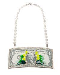 Bijoux De Famille | White Dollar Bill Necklace | Lyst