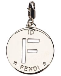 Fendi | Metallic F Identity Pendant | Lyst