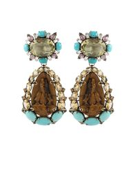 Iradj Moini | Brown Tiger Eye Buddha Drop Earrings | Lyst