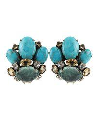 Iradj Moini | Green Four Stone Crown Earrings | Lyst