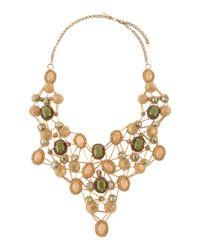 Deepa Gurnani - Crystal and Glass Statement Necklace Greenivory - Lyst