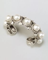 Lanvin   Pearl Crystal Cuff White   Lyst