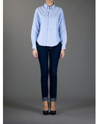 Lyst Ralph Lauren Blue Label Megan Oxford Shirt In Blue