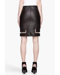 Alexander Wang - Black Buffed Leather Fishline Pencil Skirt - Lyst