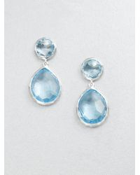 Ippolita | Blue Topaz Sterling Silver Snowman Drop Earrings | Lyst