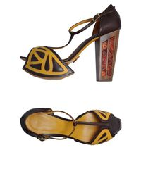 Joanne Stoker - Brown Platform Sandals - Lyst