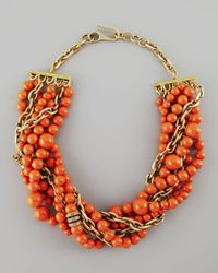 Paige Novick | Metallic Julie 7strand Howlite Beaded Necklace Coral | Lyst