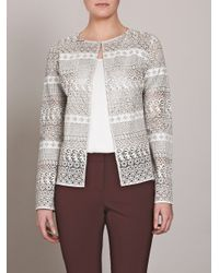 Raoul | White Lasercut Leather Jacket | Lyst