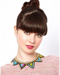 ASOS - Multicolor Asos Triangle Bib Necklace - Lyst