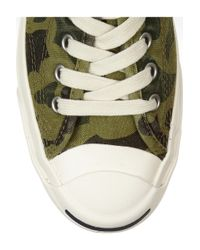 Converse - Green Jack Purcell Camoprint Canvas Sneakers - Lyst