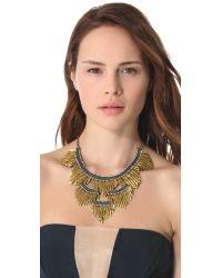 Deepa Gurnani - Metallic Fringed Layered Necklace - Lyst