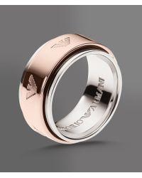 Emporio Armani | Metallic Ring in Silver | Lyst