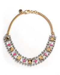 Juicy Couture - Metallic Rhinestone Chain Stud Necklace - Lyst