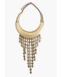 Nasty Gal | Metallic Straight Arrows Collar Necklace | Lyst